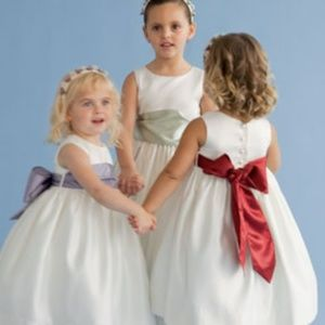 Us Angel's Flowergirl Dress in IVORY